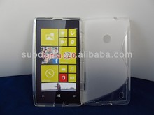 S Line TPU Gel silicon Cover Case for Nokia lumia 520 100% Fit Hot sell