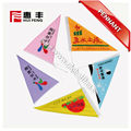 colorful promotional advertising triangle pennant