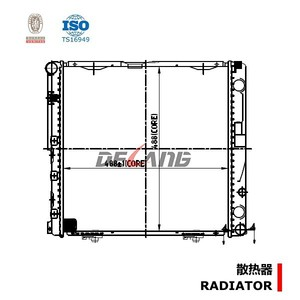 100% testing auto Radiator pa66 gf30 NISSENS NO. 62748A for MERCEDES BENZ E-CLASS W124 (DL-B208)