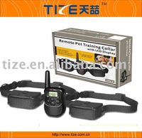 Dog bite training systems , remote control dog training collar with LCD display, shock collars for dogs