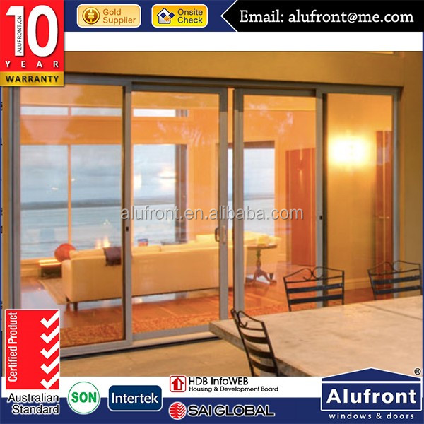 Australia standard aluminum interior decorative sliding fly screen door