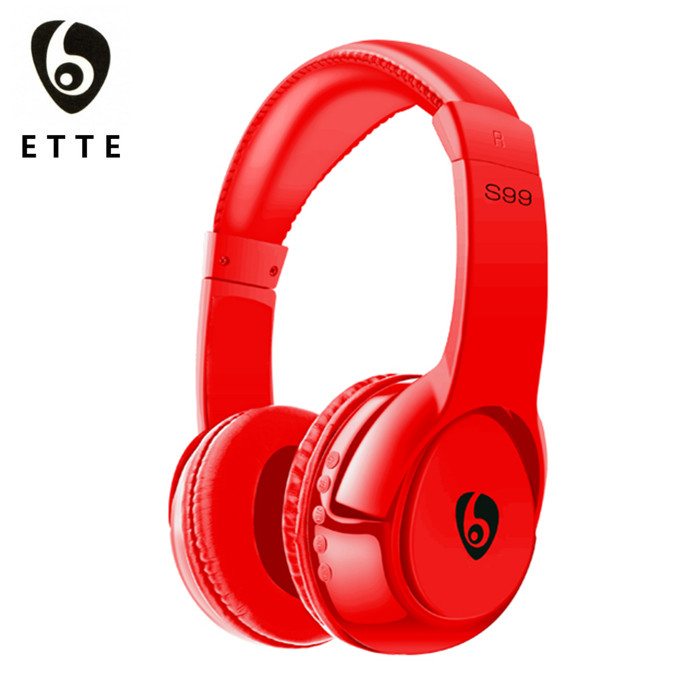 China Red Bluetooth Headphone is High Technology Gadgets as 2017 Christmas Gift for Man, Young Children, Kids Who Love Music