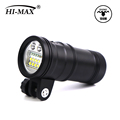Hi-Max Uv9 5200Lumen Led Dive Flashlight T8 Waterproof Fluorescent Ip65 UV Underwater Lamp Strobe Light