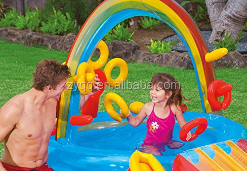 Rainbow Ring Inflatable Water Slide Includes Blower