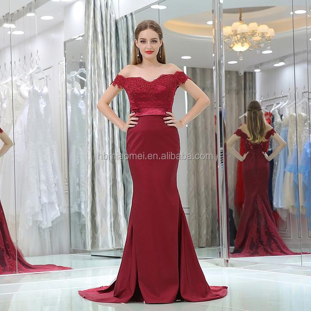 2017 dark red wedding dress_Yuanwenjun.com