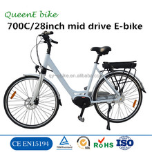 City Hub Motor Electric /700C Electric Bike Kit/ 36V 250W mid drive motor Electric Bike for lady