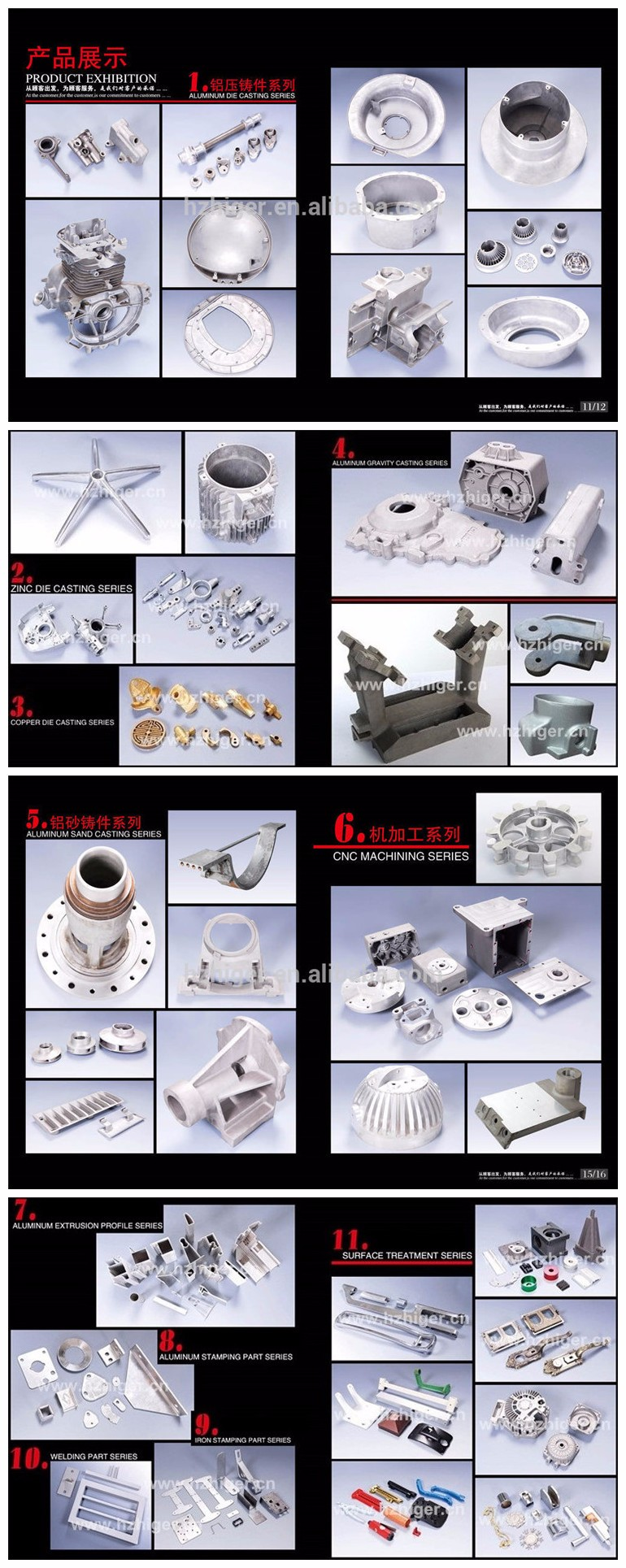 HGMC-L003 custom cnc machined aluminum machine electric die casting parts