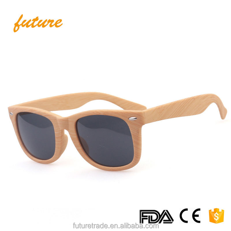 2140 Yiwu Future PC Frame Resin Lenses Hot Wood <strong>Grain</strong> Driving UV400 2017 Bamboo Wooden Sunglasses