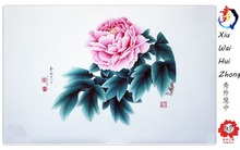 Hot ! China unique art of handmake peony painting work with beauty wooden packaging box