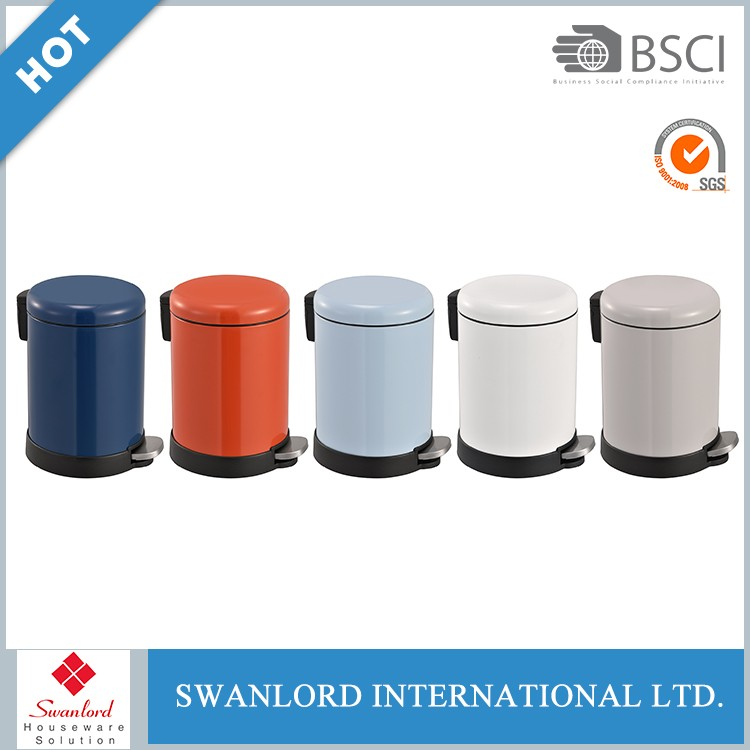 Stainless steel stand mounted foot pedal dustbin lids