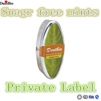 Green Tea candy with orange flavour in leaf tin can mint candy brands mints in tin cans
