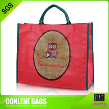 2014 fashion non-woven shopping bag Cheapest Packaging gift bag red pp woven bags