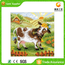 Yiwu supply canvas paint cow painting by numbers painting art acrylic