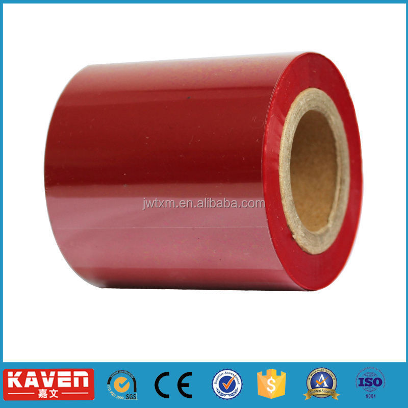 red thermal transfer ribbon for zebra printer,thermal transfer ribbon,colorful thermal transfer ribbon