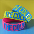 china 3/4 inch silicone wristbands ink filled silicone bracelets