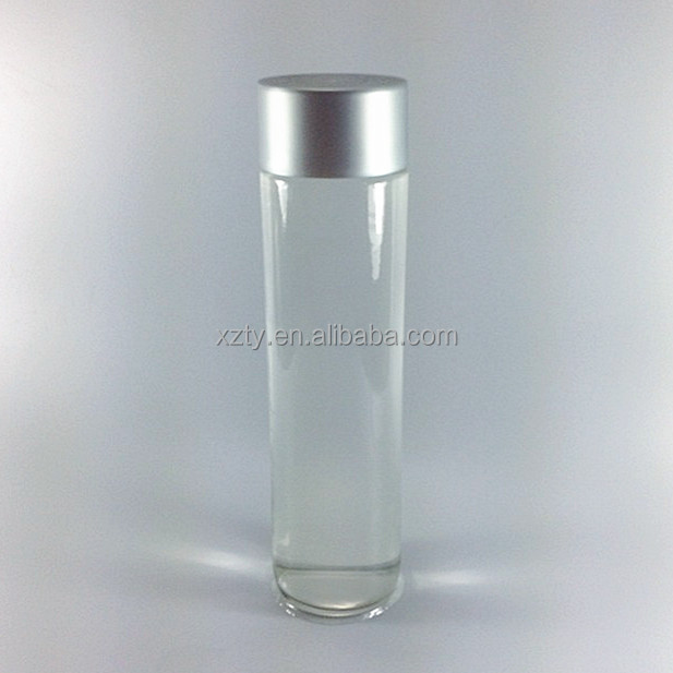 glass voss water bottle with cap