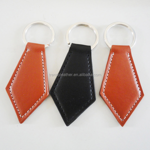 Custom leather keychain, cheap promotion leather key ring