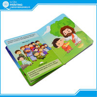Fancy varnishing cardboard book printing for kids
