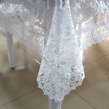 Banquet lace tablecloth with the organza