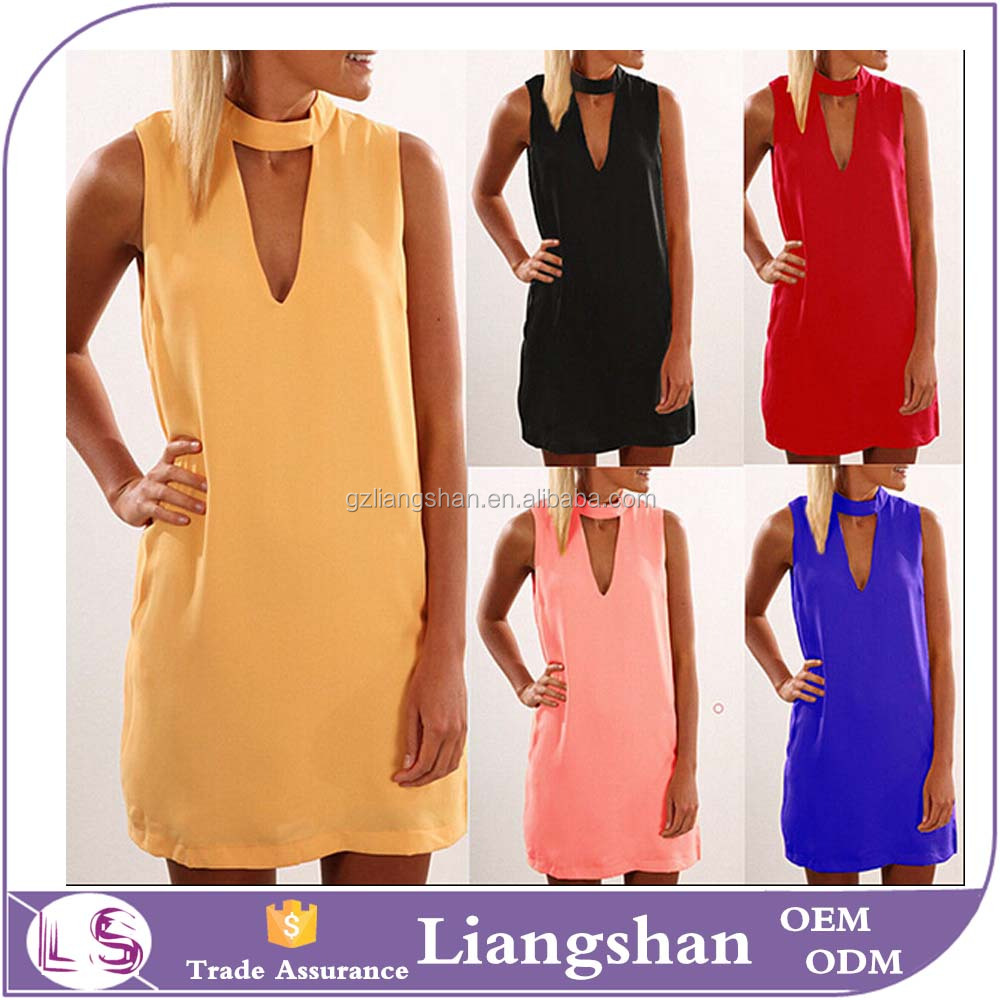 2016 OEM Wholesale Summer Sexy Women Sleeveless Party Dress Club Evening Cocktail Casual Mini Night Dress
