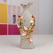 Turkey golden cheaper ceramic porcelain vase for home decoration