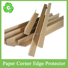 L shaped paper board edge protectors with laminated hard board