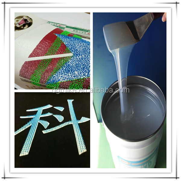High Density Brush Effect Liquid Silicone Rubber Used for T-shirt Printing