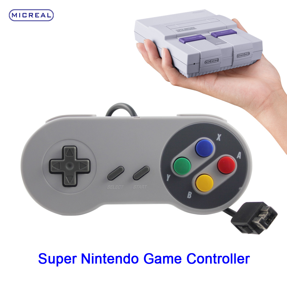 Factory wired retro snes classic mini game controller for snes console edition system in stock