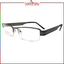 Laura Fairy Classic Italian Designers Men Eyeglass Frame Half Rim Metal Optical Frame