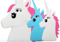 Charming unicorn 3D silicone mobile phone case for samsung galaxy cover for S6 Plus