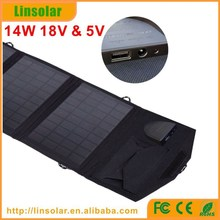 waterproof solar panel 18V battery charger for laptop, 14w 18v solar panel flexible waterproof