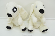 Dog Golf Head Cover White Black Spot Plush Golf Head Cover