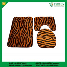 The best popular 3pcs polyester toliet seat/cover toilet set/ cover toilet bath mats