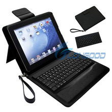 Aluminum Shell Bluetooth Keyboard Snap On Case Stand For iPad 3