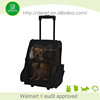 Plastic handle luggage box pet carrier on wheels