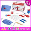 Lastest fun colorful wooden doctor set toy for kids,Nice design educational toy doctor set toy for children W10D111