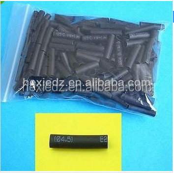 200 Pcs 1/2 PVC Heat Shrinkable Shrink Tubing Heat shrink sleeve Black