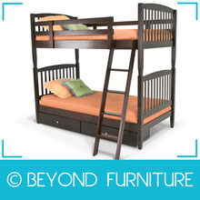 Heavy Duty Solid Wood Triple Bunk Bed