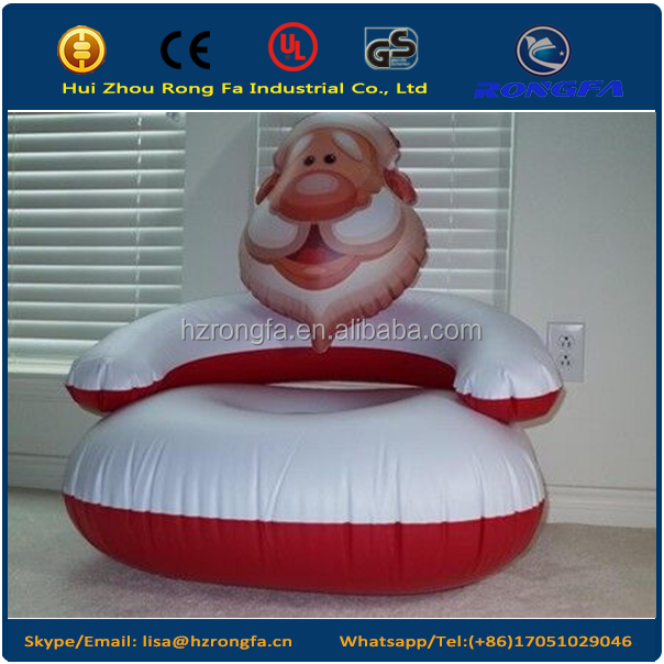 Santa Claus Inflatable Chair for boys and girls Christmas gift