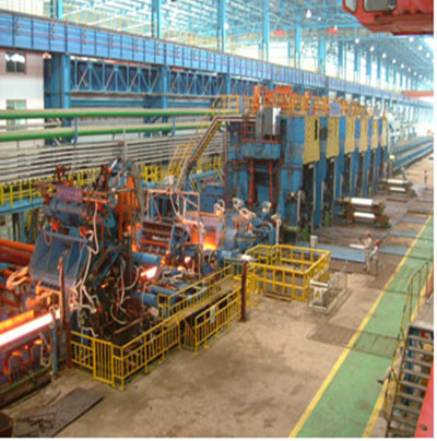 Hot continuous rolling mill for plate steel