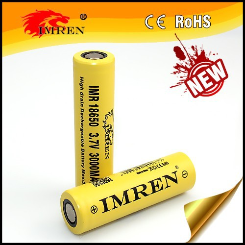 High drain 18650 battery IMREN 18650 3000mAh 35a 3.7V Rechargeable Battery Cell ncm 18650