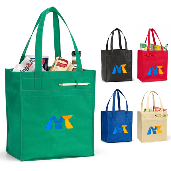 Deluxe grocery fashion custom printed shopping tote bag