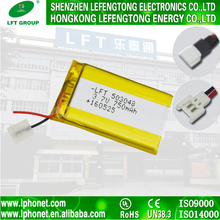 Factory supply 503048 li-ion 3.7v 750mah rechargeable battery batteries