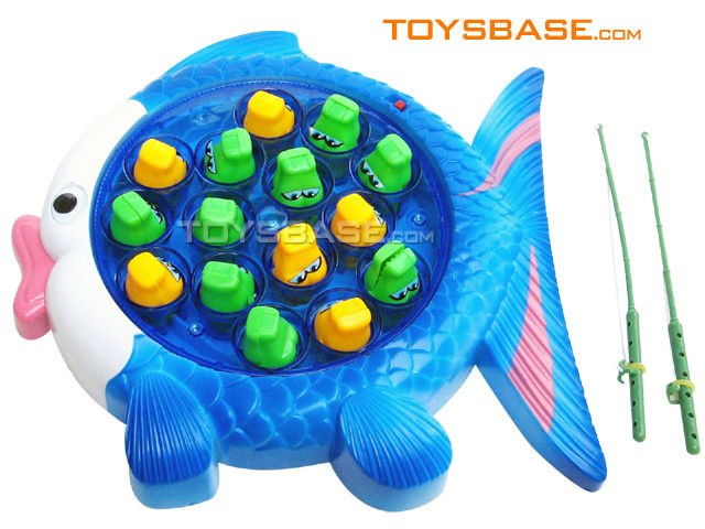 Electric fishing toy with music