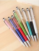 Fashion design metal multifuntion pen stationery office gift crystal pen promotion touch screen ballpoint pen
