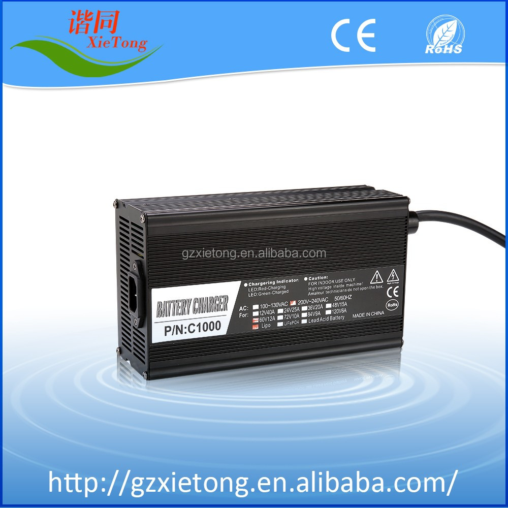 60V10A Lead Acid/LiFePO4/Li-ion Battery Charger Electric Vehicles Battery Charger