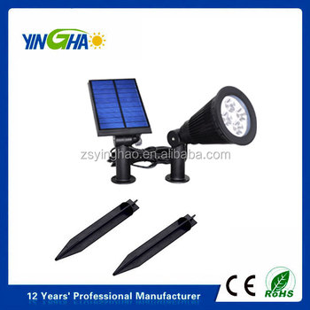 2 in 1 installation - Stick into the ground/mounted on the wall solar spotlight