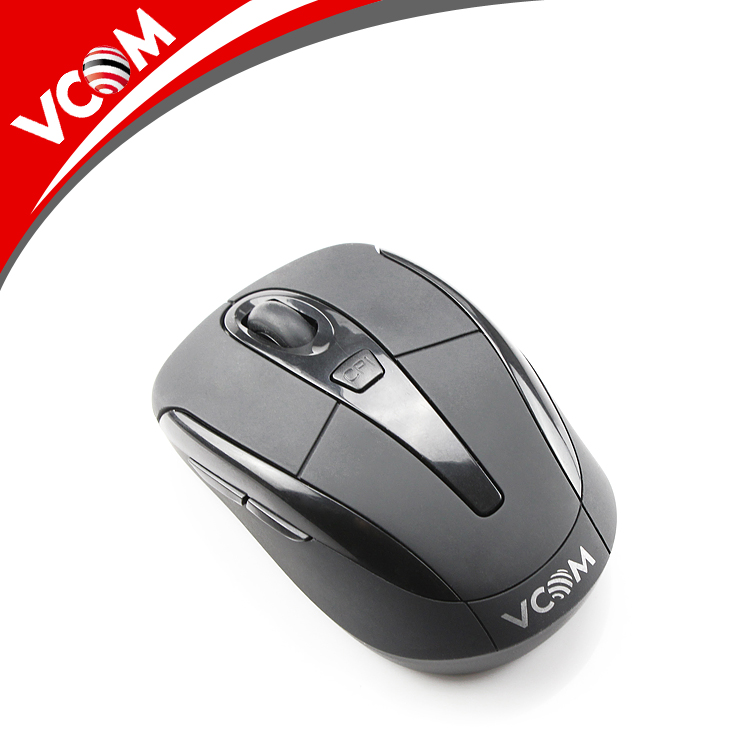 Free Sample Black 2.4Ghz Optical USB Wireless Mouse