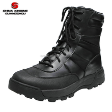 Rubber Outsole Tactical Camping Split Leather boots with Side Zipper