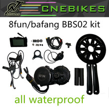 CE approved !48v 750w 8fun bafang bbs-02 Crank Mid brushless motor Central mid Drive Motor